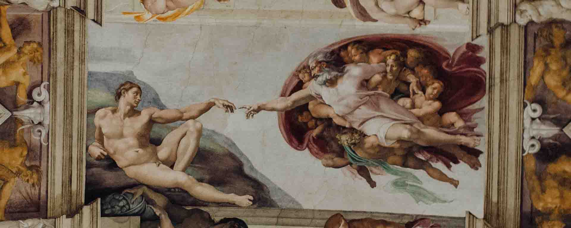 De schepping van Adam - Sixtijnse Kapel plafond