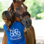 HipDog Elisabeth met een paard