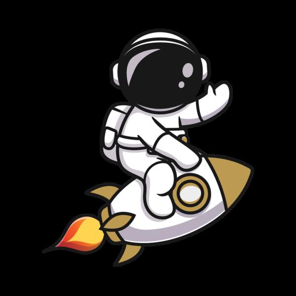 Astronaut Fast Solutions op Raket